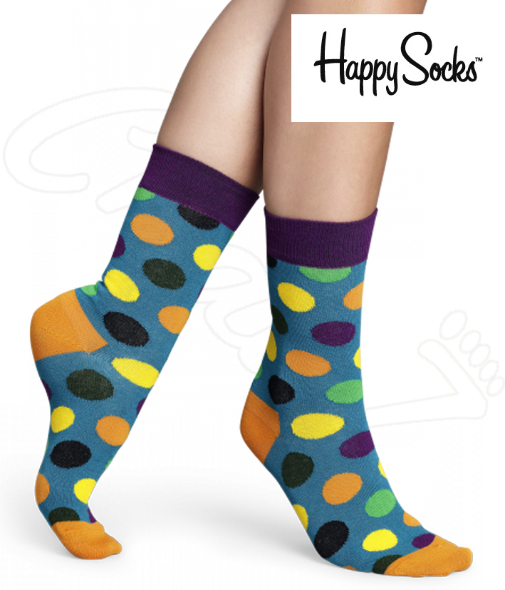 2 paires chaussettes happy socks pois big dot. Black Bedroom Furniture Sets. Home Design Ideas