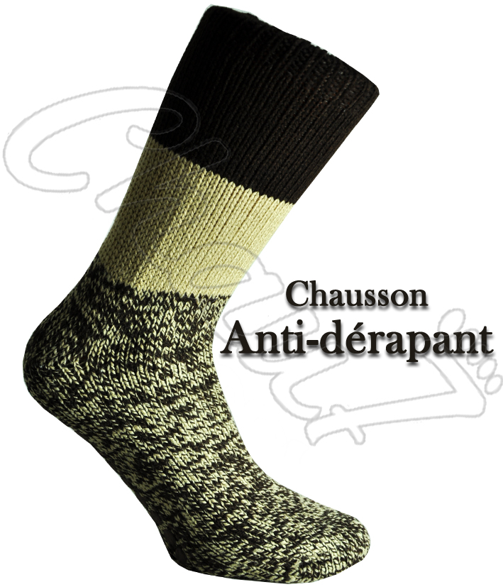 chaussettes anti d rapantes chausson pour homme et femme anti d rapant. Black Bedroom Furniture Sets. Home Design Ideas