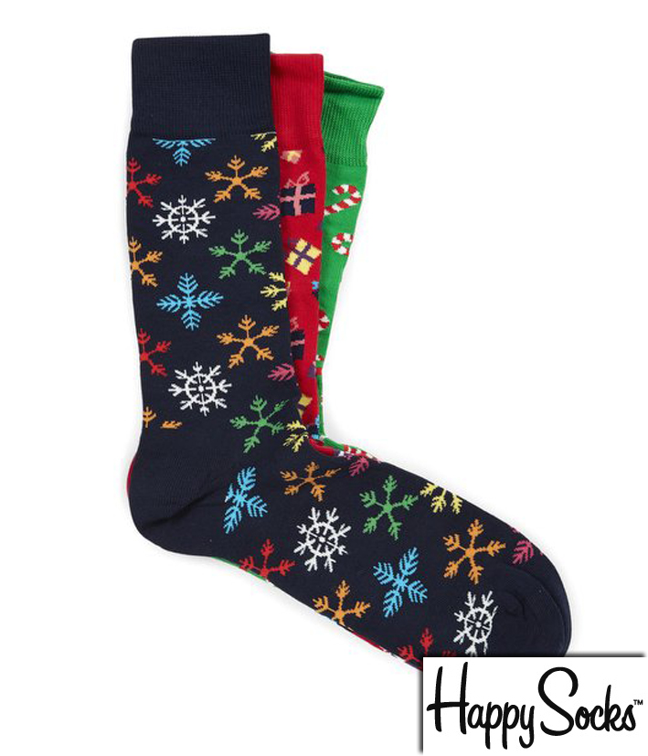 coffret cadeau de no l sucre d orge 3 paires de chaussettes de marque happy socks. Black Bedroom Furniture Sets. Home Design Ideas