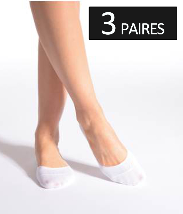 3 paires chaussettes invisibles en coton avec antiglisse silicone. Black Bedroom Furniture Sets. Home Design Ideas