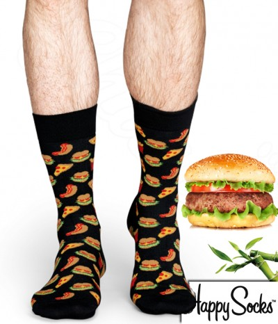 chaussette motif hamburger acheter chaussettes hamburger homme femme taille adulte. Black Bedroom Furniture Sets. Home Design Ideas
