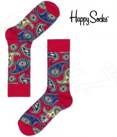 chaussettes rouge happy socks marque design