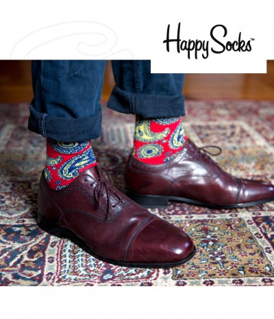 achat chaussettes homme tendance couture happy socks