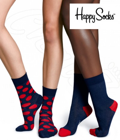 lot 2 paires chaussettes poid happy socks