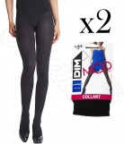 2 Collants DIM rayure masculine