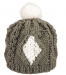 Beret grosse maille Pompon Lapin