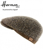 Casquette plate tweed Range herman 1874