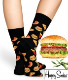 1 paire chaussettes bambou hamburger Happy Socks - Edition sp�ciale