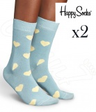 2 paires chaussettes Happy Socks Heart