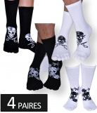 Lot 4 paires Chaussettes doigts Pirate Homme
