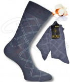 2 paires chaussettes 100% Fil Ecosse- Intarsia