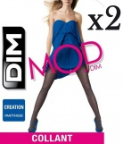 2 Collants MOD de DIM Cr�ation Chevrons