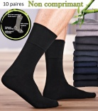 Lot 10 Paires Chaussettes extra-confort Bambou