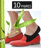 10 p. Chaussettes invisibles Bambou Homme