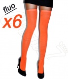 Lot 6 paires jambi�res Fines Fluo