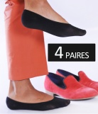 4 paires Chaussettes Invisibles Antiglisse