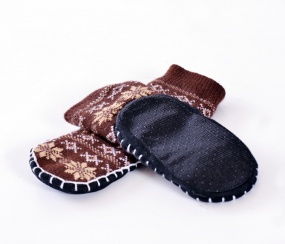 chaussons-enfant-flocon-chaud-marron