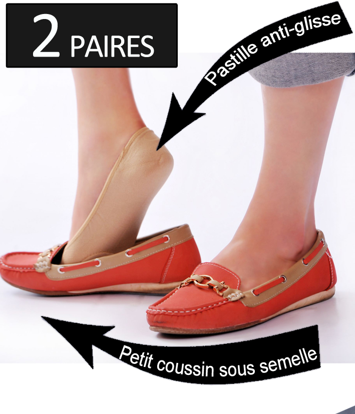 taille 40 27818 cf9e9 Lot de 2 paires protège-pied invisible Extra-Confort ...