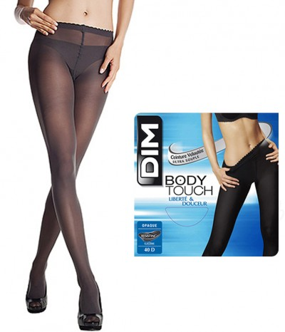 2 Collants choco DIM Body Touch Opaque