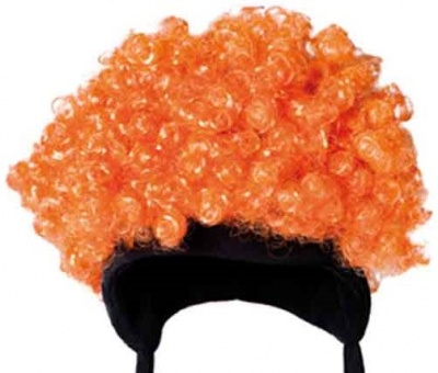 bonnet jackson five ski polaire orange cheveux boucles