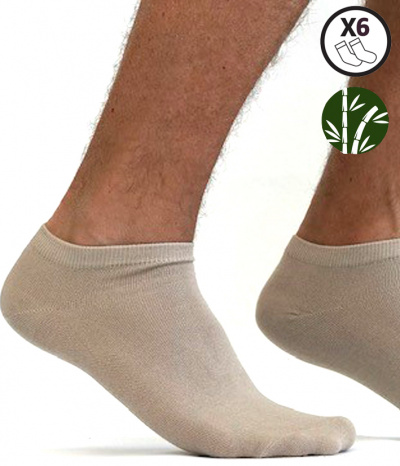 chaussette court homme bambou footi beige
