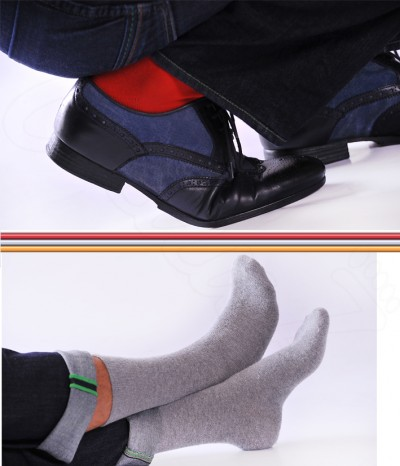 chaussettes rouge homme