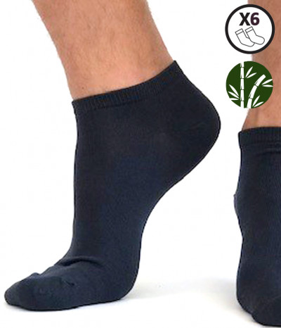 chaussettes courte bambou homme marine