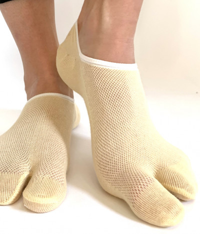 chaussettes invisible 2 doigts beige