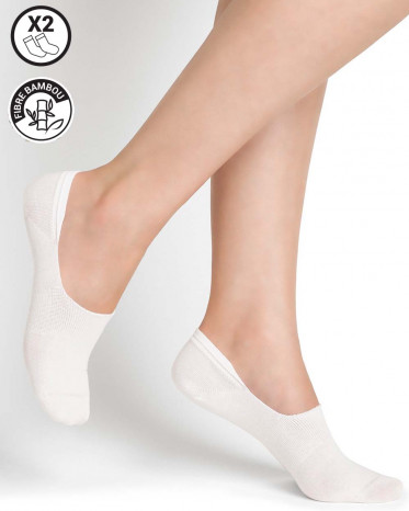 chaussettes protege pied invisible blanc