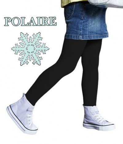 collant polaire noir fille