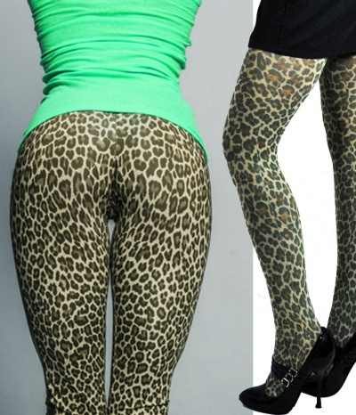 collant tigresse leopard