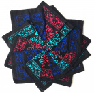 12 bandanas coloris Intenses
