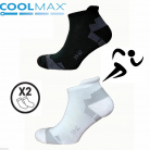 Chaussette Running Bike Coolmax 2 paires