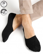 2 p. Chaussettes invisibles Bambou Homme