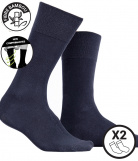 2 Paires Chaussettes extra-confort Bambou