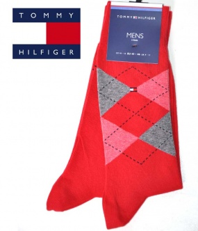 chaussette rouge homme tommy hilfiger rouge