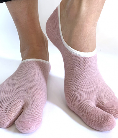 chaussettes invisible 2 doigts rose