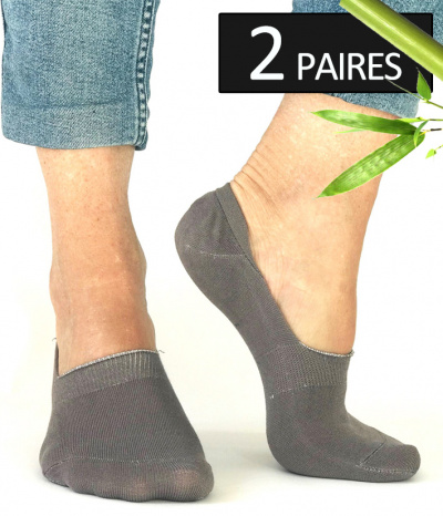 chaussettes tres courtes invisible en bambou beige taupe