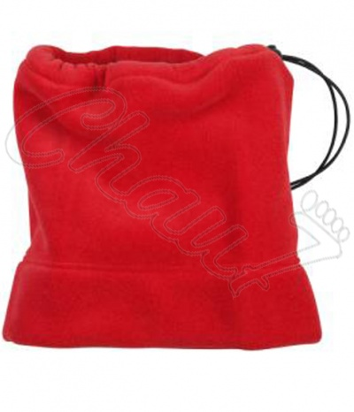 tour de cou polaire, snood rouge